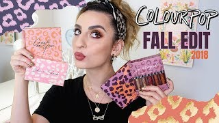 Colourpop Fall Edit 2018: Swatches & Demo!