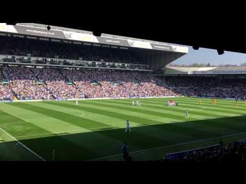 Leeds United fans signing 'Marching on together' loud at Elland Road vs Preston 2017