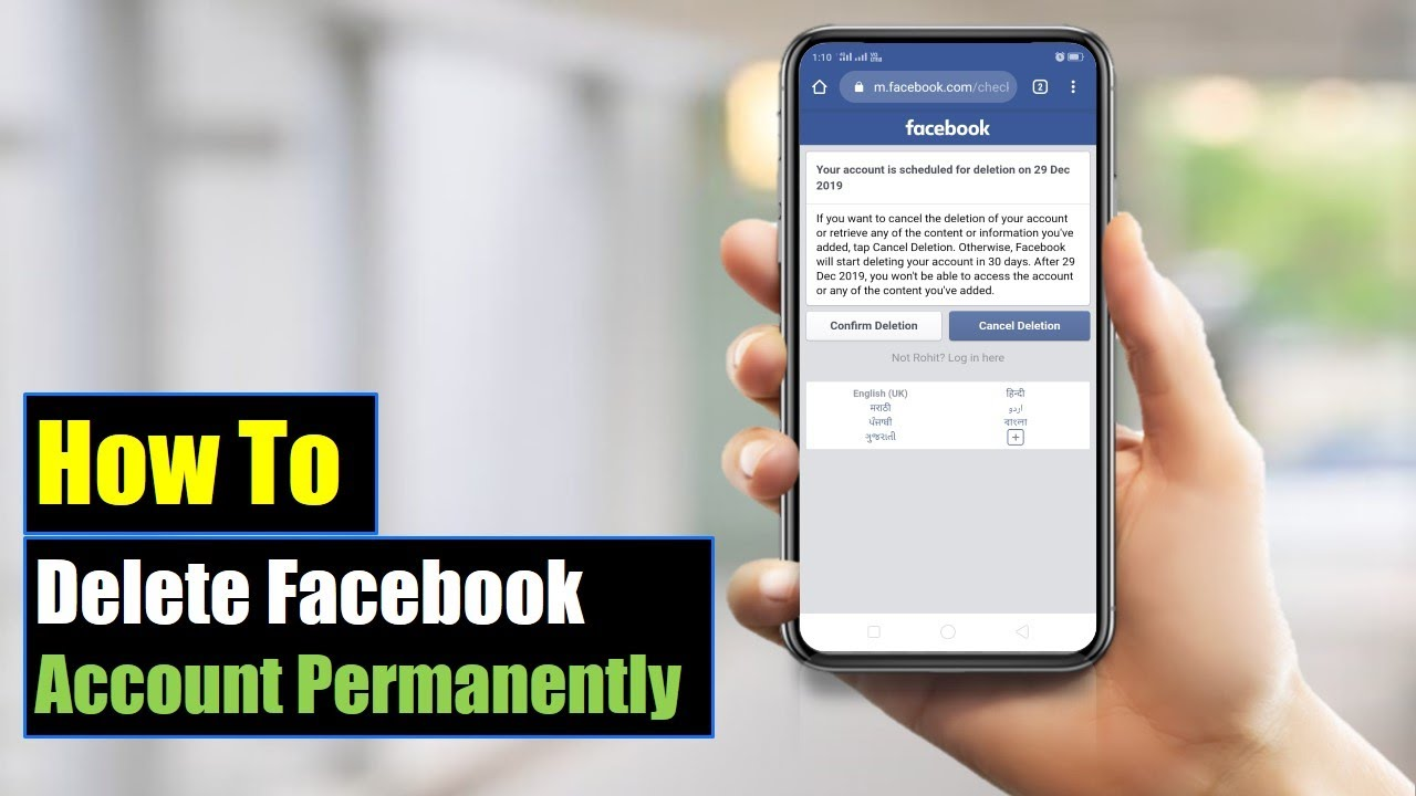 How to Permanently Delete a Facebook Account: 10 Steps