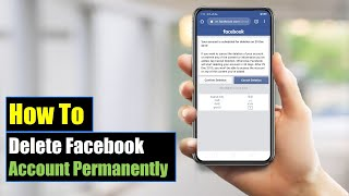 How to Delete Facebook Account Permanently On Mobile (Android or iPhone) | Mobile App