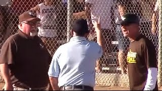 Controversial Game ending & Coaches Ejected: Burrow Varsity 1st Base: Great Oak vs TV Bears Softball