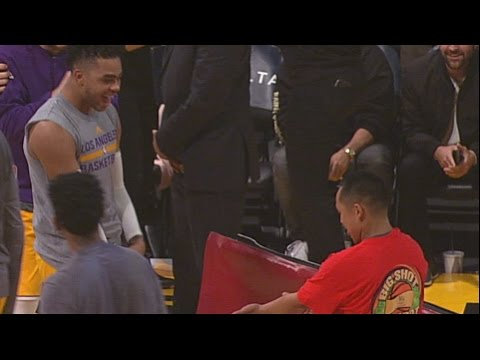 Thumbnail: Lakers Fan Hits Halfcourt Shot for $95,000! | 01.03.17