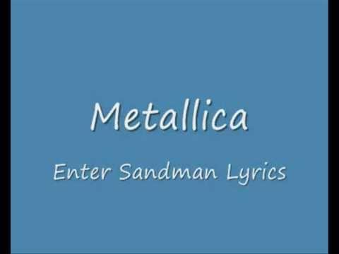 Metallica - Enter Sandman  Instumental w/ Video Lyrics (KARAOKE) Performed by Coverband Cornerstone