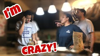 I'm crazy prank on mom and dad (mom got angry)