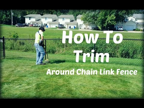 How To String Trim Weed Eat Weed Whack Around Chain