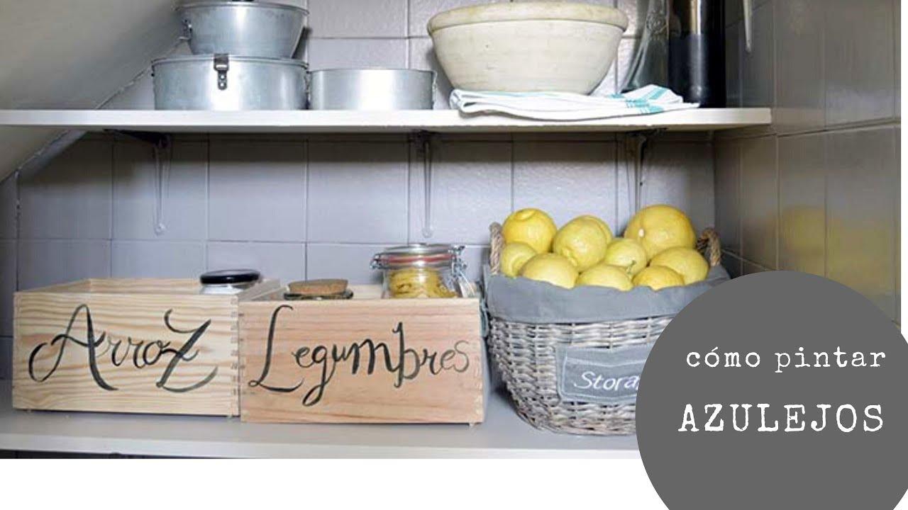 Video tutorial pintar azulejos de la cocina y suelo youtube - Pintar encimera cocina ...