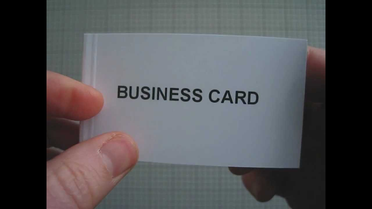 Business Card, a flipbook by Jonathan Lewis - YouTube