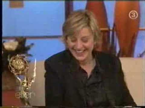 Felicity Huffman on Ellen the morning after the 2005 Emmy's