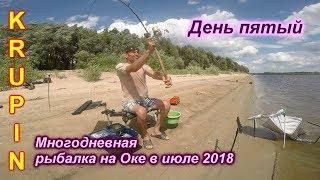 Многодневная рыбалка на Оке.  ДЕНЬ ПЯТЫЙ.