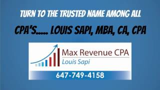 How to find a CPA in Toronto? Louis Sapi MBA, CA, CPA