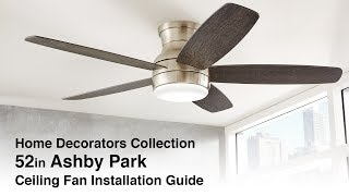 52 in. Ashby Park Installation Guide
