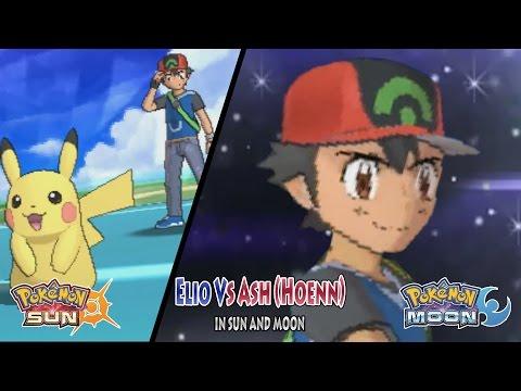 Pokemon Sun And Moon: Trainer Sun Vs Ash Hoenn (Advanced Generation Ash Vs Elio)