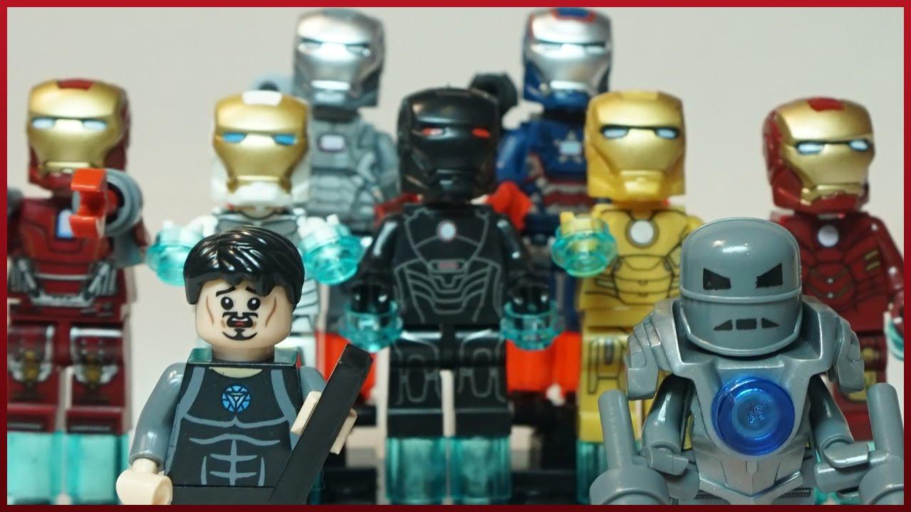 Железный человек картинки все костюмы в одной 12