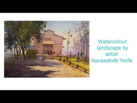Watercolour landscape demo by artist Nanasabeb Yeolo