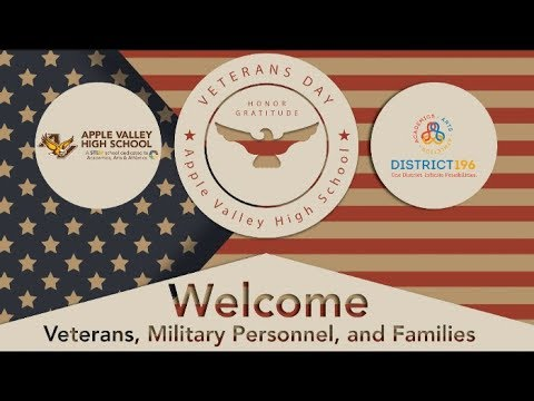 Veterans Day Celebration 2017 Apple Valley High School