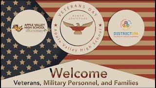 Veterans Day Celebration 2017 Apple Valley High School