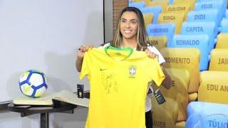 Brazilian female football player enters Maracana Hall of Fame