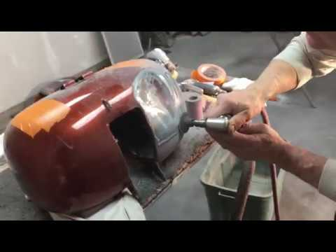 Fixing a dented  Harley gas tank