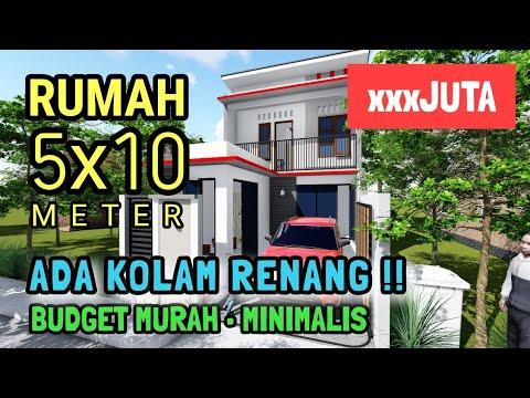 rumah minimalis 2 lantai di lahan sempit ukuran 5x10 meter