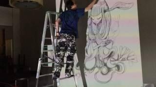BenQ i500 應用於壁畫創作的示範影片