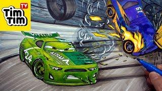 How to draw CARS 4 Cruz Ramirez's Crash . step-by-step ...