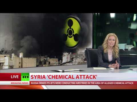Dozens reported killed in alleged gas attack in Syria, military denies involvement