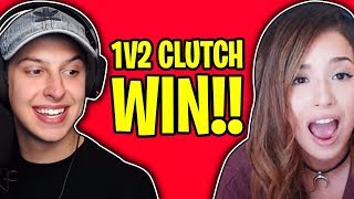 1v2 CLUTCH WIN w/ POKIMANE in FORTNITE!!!