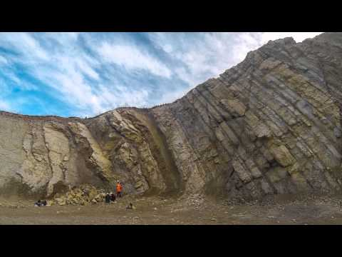Time-lapse of profiling the geological section in the Langenberg-Quarry; February 2015