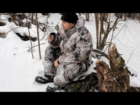 видео: Костюм для зимней охоты и рыбалки. Обзор и тест на местности.