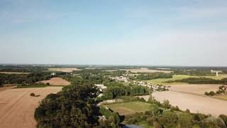 France from the sky- Indre et Loire- Villentrois campagne française