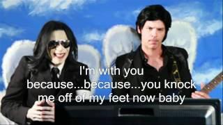 michael jackson on glee with lyrics on screen key of awesome hd