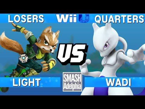 Smash 4 Wii U - Light (Fox) vs WaDi (Mewtwo) - SMASHADELPHIA 2017 Losers Quarters