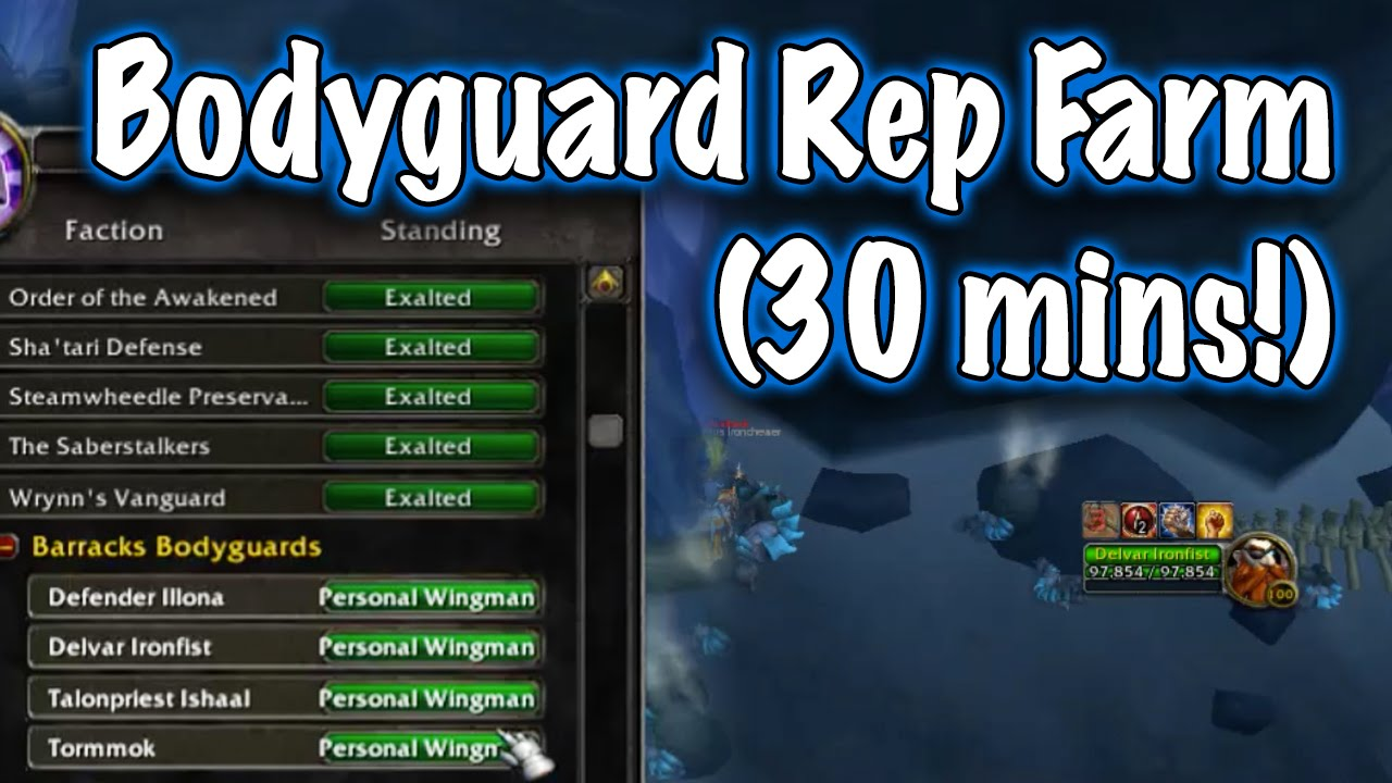Jessiehealz Follower Bodyguard Rep Farm Guide World Of Warcraft Youtube