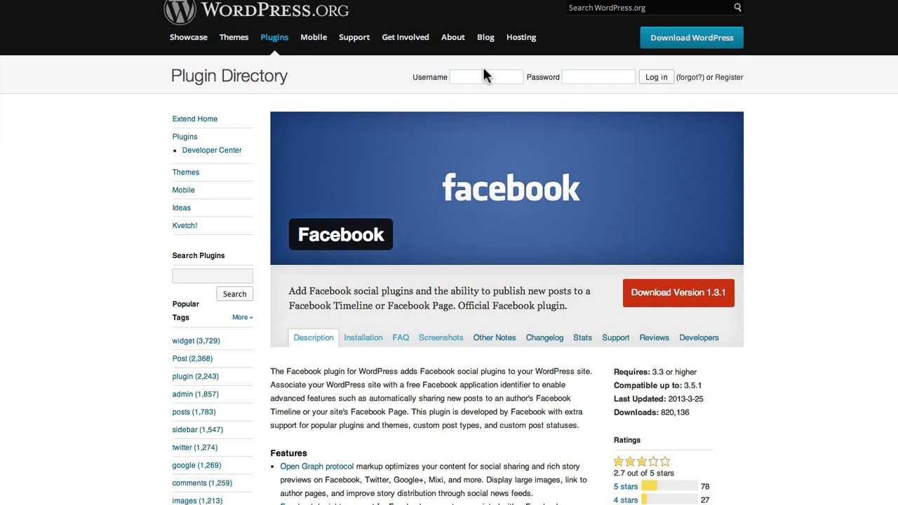 Facebook timeline login page