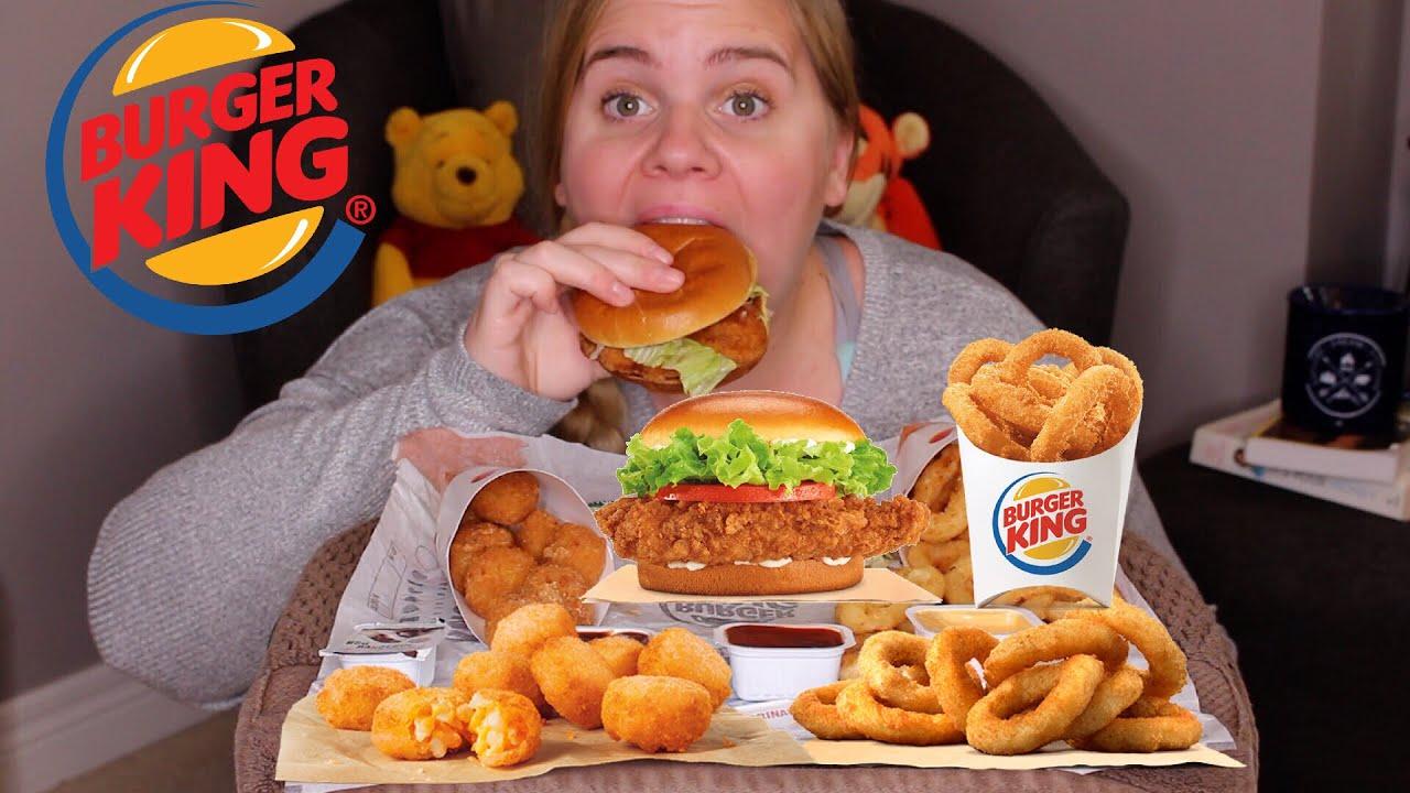 Burger King Mukbang Cheesy Tots Crispy Chicken Onion Rings