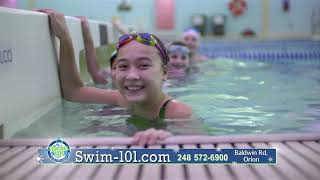 Learn to swim at Swim 101! Visit www.swim-101.com for more information.
