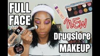 Full Face of Drugstore Makeup|Trying New Drugstore Makeup 2019!
