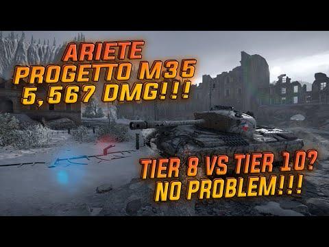 World Of Tanks Console Ariete Progetto M35 Mod.46 5567DMG!!!