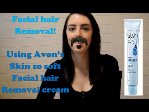 using hair removal cream on face