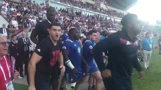 France U20s react to winning the World Rugby U20 Championship