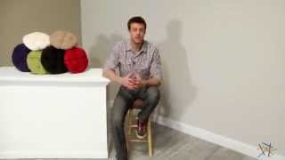 Deauville 13 X 13 Backless Bar Stool Seat Cushion - Product Review Video