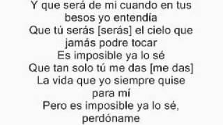 Franco De Vita .ft Alejandra Guzman  - Tan Solo Tu  Lyrics  letra official