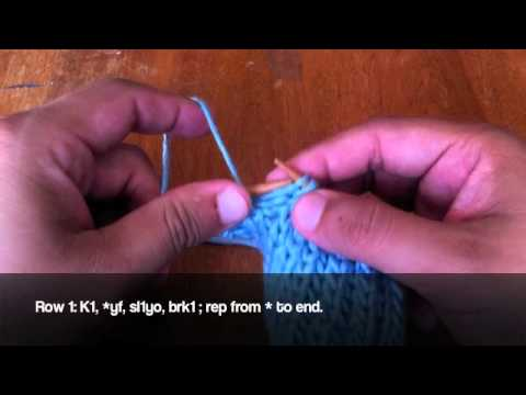 Knit Stitch For Left Handed Beginners : How to Knit Left Handed: The Brioche Stitch - YouTube