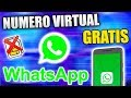 Numero Virtual Gratis para WHATSAPP 2020 Facil !! - YouTube