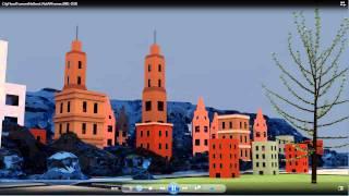 Blender Fluid Simulation - City Flood Tidal Wave - Take 3