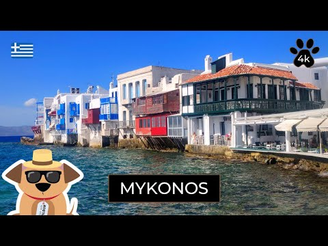 Beautiful Mykonos Greece 4K Virtual Walking Tour