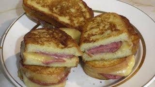 Горячие бутерброды на завтрак Быстрый завтрак на скорую руку