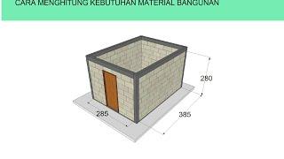 Cara menghitung kebutuhan material bangunan