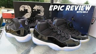 AIR JORDAN 11 SPACE JAM 2016 RETRO SNEAKER REAL REVIEW INCLUDING ON FEET #MONSTARSBACK