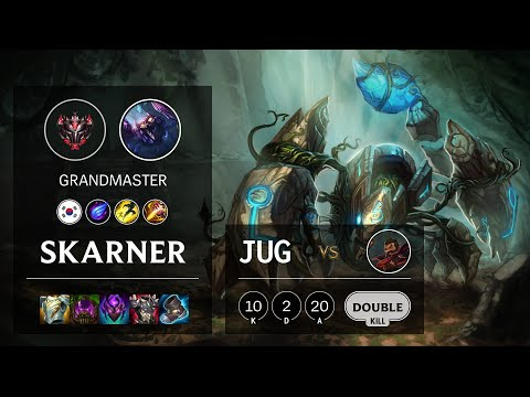 Skarner Jungle vs Graves - KR Grandmaster Patch 10.23